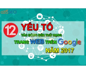 [HIGHLIGHTS] 12 FACTORS IMPROVING YOUR SERVER ON GOOGLE 2017
