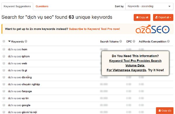 google keyword io